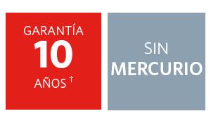 Garantia de 10 años, pilas libres de mercurio