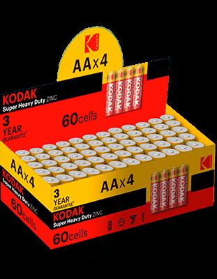 pilas salinas Kodak EHD AAA LR3 retractiladas