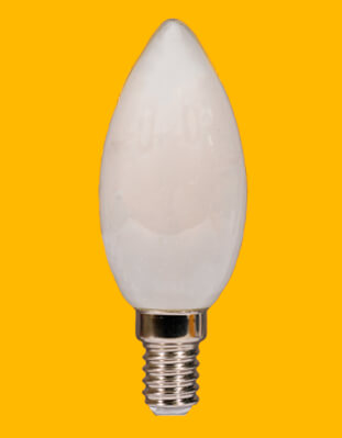 Bombillas vela de filamento opalo Kodak