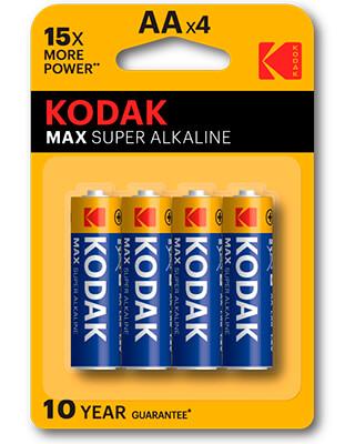 pilas alcalinas Kodak MAX AA LR6 (4)