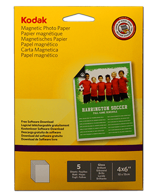 Kodak Magnetic Photo paper 10x15 5 hojas