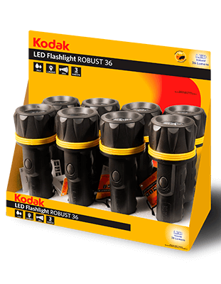Expositor 8 linternas LED Kodak ROBUST 36