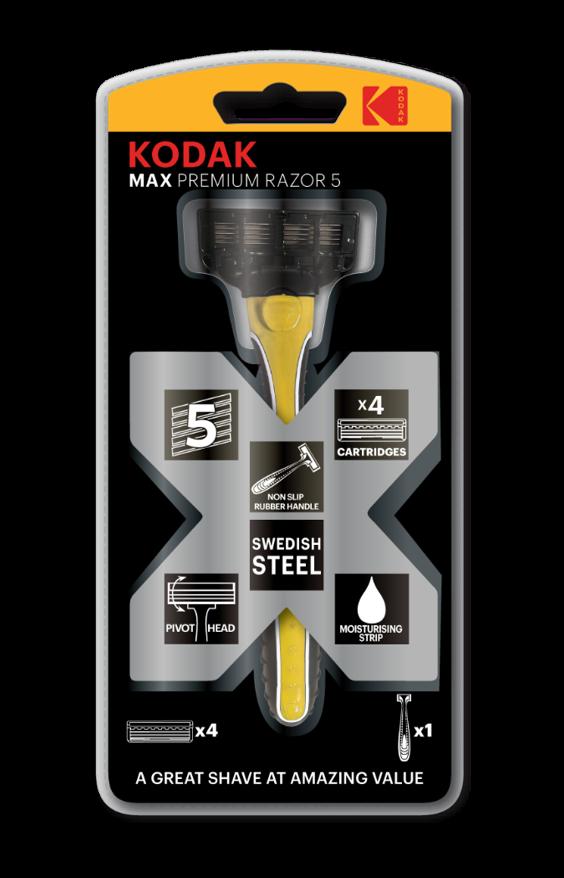 Blister MAX Premium RAZOR 5 + 4 recambios KODAK Premium